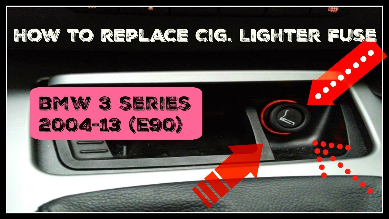 how to replace cig lighter fuse on bmw 3 series 2004 13 youtube 2008 bmw 328i fuse diagram cigarette lighter [ 1280 x 720 Pixel ]