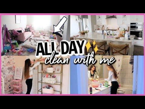 ALL DAY CLEAN WITH ME! WHOLE HOUSE CLEANING MOTIVATION!