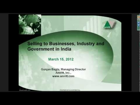 Selling to Businesses, Industry and Government in today's India