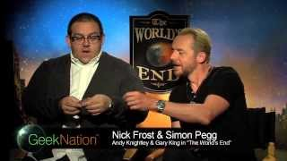 Simon Pegg, Nick Frost, Edgar Wright interviews - THE WORLD'S END, SHAUN OF THE DEAD, HOT FUZZ