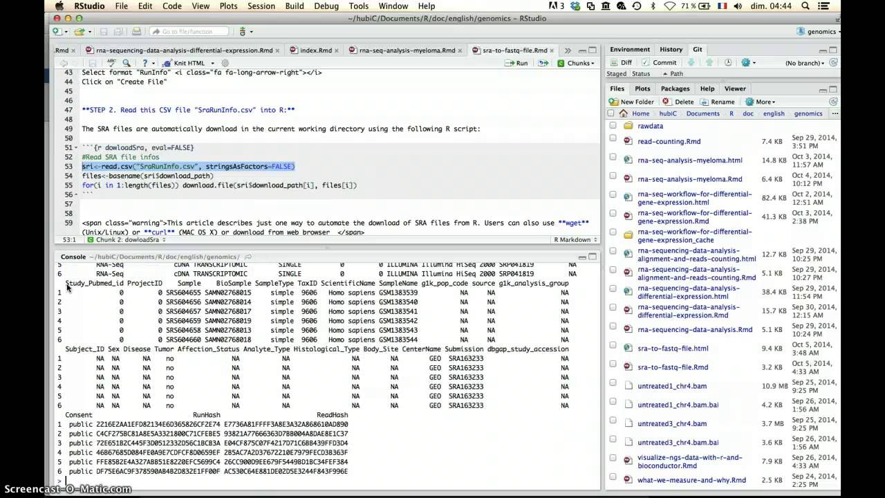 From SRA to FASTQ file - Easy Guides - Wiki - STHDA