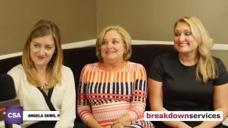 Breakdown Services Interviews Angela Demo, Nancy Mosser, and Katie Shenot at the 2016 Artios Awards