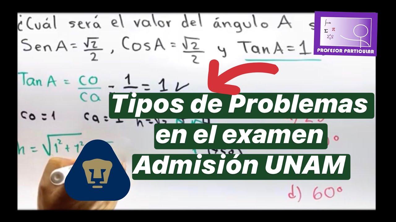 ⚫Guía Admisión UNAM   3 Problemas de TRIGONOMETRÍA