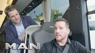 MAN Driving Professionals: Einstellung Fahrersitz