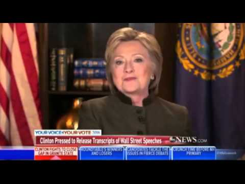 Clinton Sarcastically Says She'll Release Speech Transcripts When Everyone Else Does