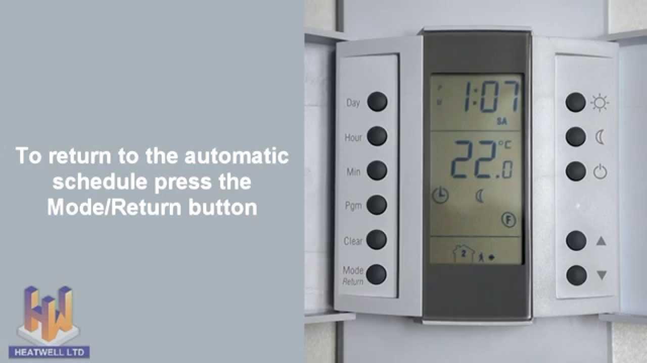 heatwell thermostat aube th232 youtube rh youtube com aube thermostat manual th115-a-120s Heated Aube Thermostat