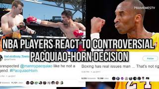 NBA players react to controversial Pacquiao-Horn decision