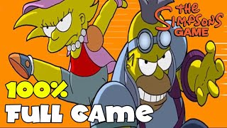 The Simpsons Game Walkthrough 100% FULL GAME Longplay (X360, PS3, PS2, Wii, PSP)