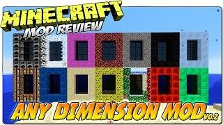 ANY DIMENSION MOD MINECRAFT 1.7.10 | ¡Versión 0.2 con más dimensiones! | REVIEW ESPAÑOL