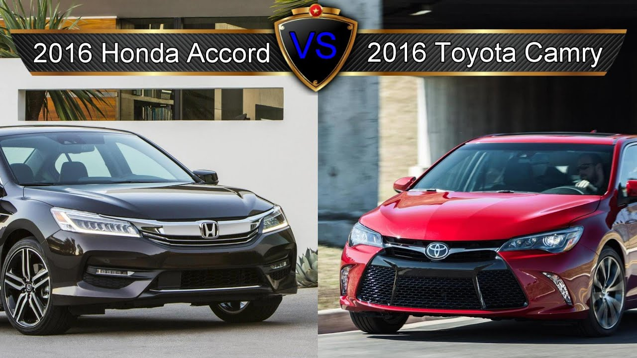 2016 honda accord vs toyota camry by the numbers youtube. Black Bedroom Furniture Sets. Home Design Ideas