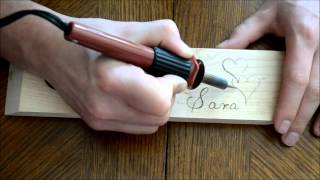 Wood Burning An Angled Wine Bottle Holder #3