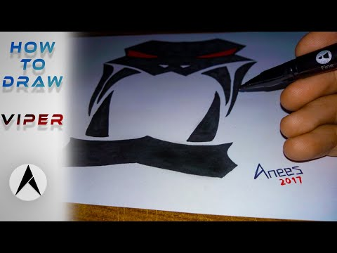 How to draw simple viper logo - AneesArt