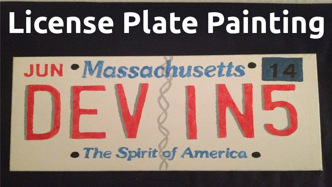 How To: License Plate Painting (Art Project) - YouTube