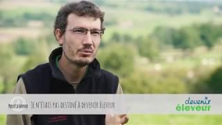 Matthieu, éleveur de vaches allaitantes dans la Loire