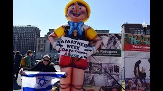 Pinocchio at Columbia University, Israeli Apartheid Week 2016