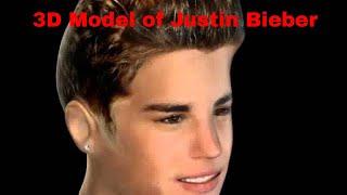 3D Model of Justin Bieber