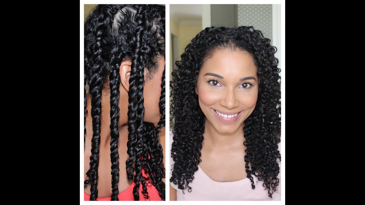 3 Strand Twist Out Demo Results Youtube