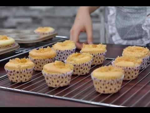 Cách Làm Bánh Bông Lan , Chà Bông Trứng Muối , Nhân Phô Mai, Bằng Lò Nướng