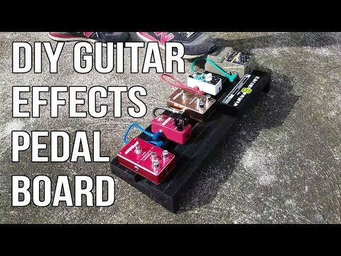 DIY Guitar Effects Pedalboard from Subwoofer Scraps