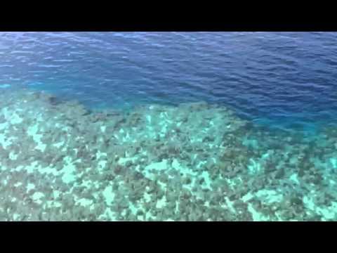 Keindahan Manado Tua dan taman lautnya saat diambil dari Helikopter