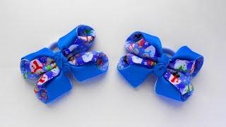 Новорічні бантики зі стрічок МК Канзаші