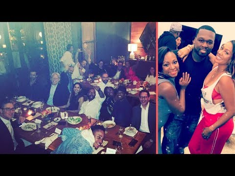 50 Cent WILDIN With Whole Cast Of Power and 50 Central Together For The First Time At A Restaurant