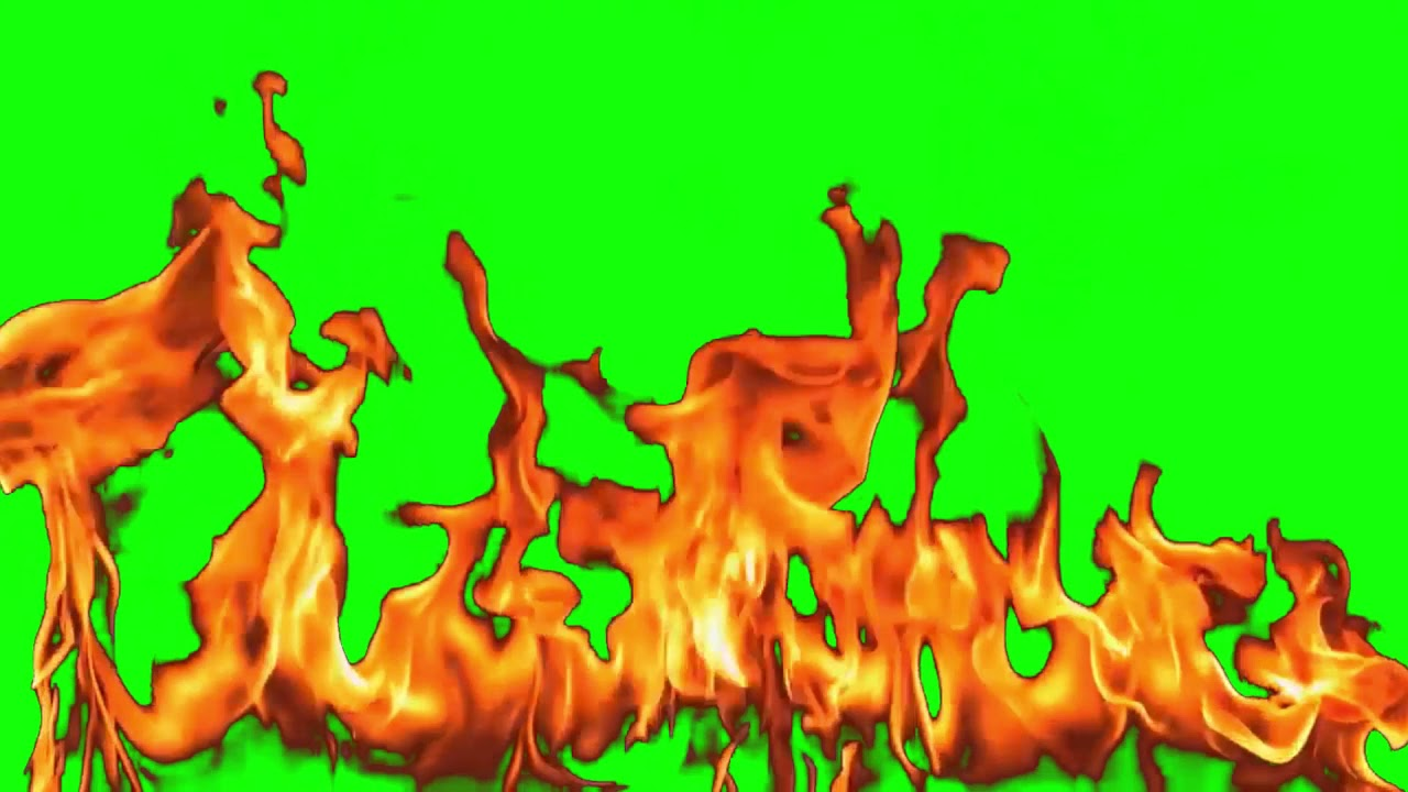 Fire Animation - 10 Minutes Loop (green screen) - YouTube