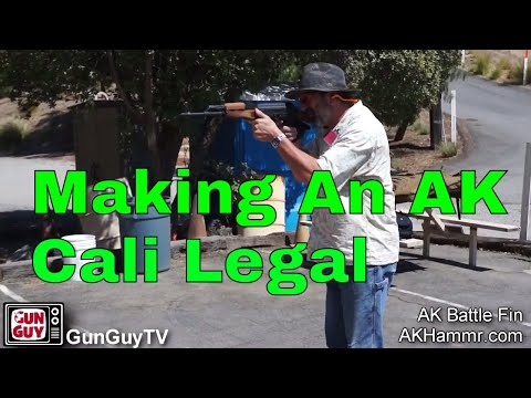 How to make your AK rifle California legal