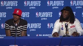 Lou Williams & Montrezl Harrell Postgame Interview - Game 2 | Clippers vs Warriors | 2019 Playoffs