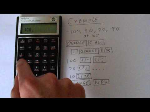 HP 10BII Financial Calculator NPV Calculation