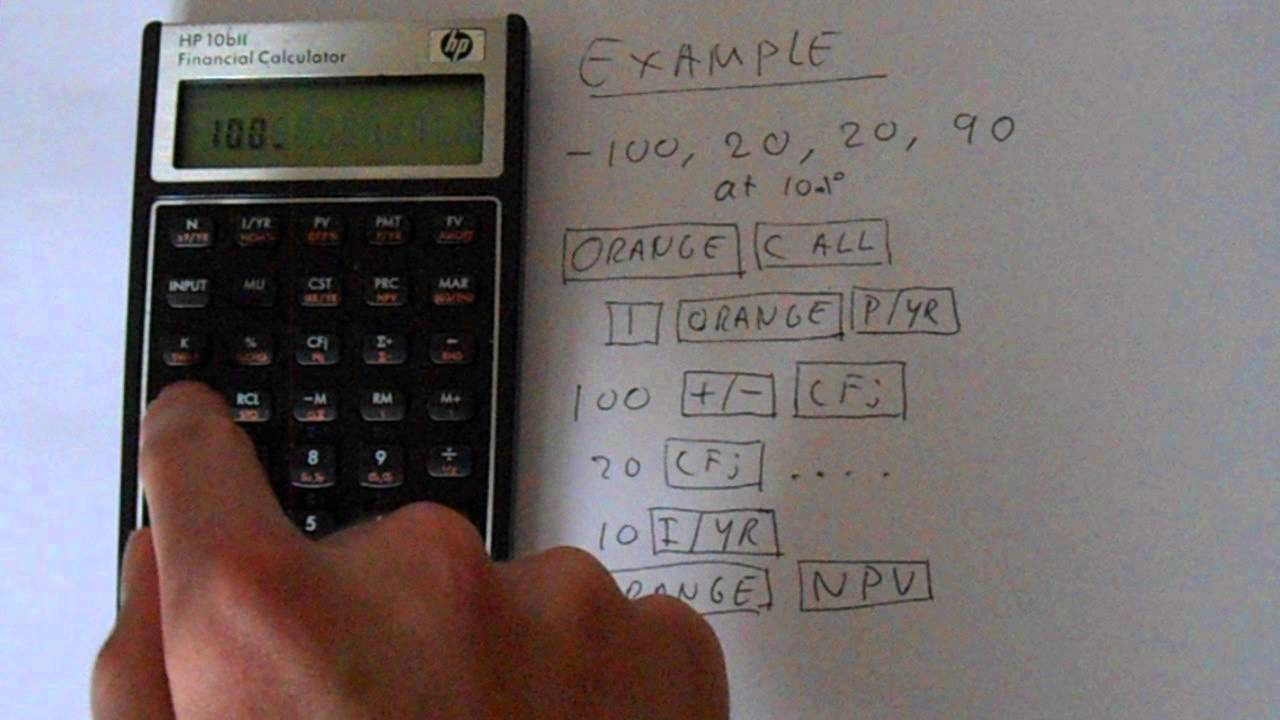 hp 10bii financial calculator npv calculation youtube rh youtube com HP Service Manuals HP Computer Manuals Desktop