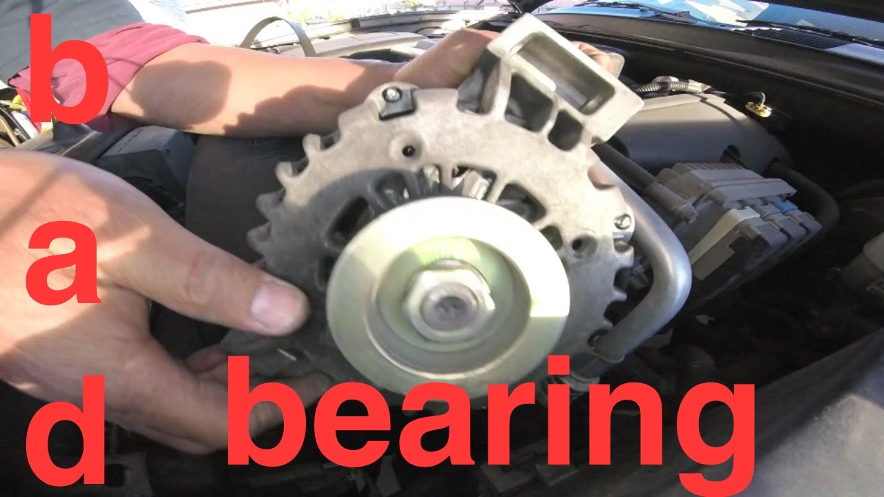 Grinding NOISE hard Vibration ALTERNATOR Replacement Chevy TrailBlazer √ Fix it Angel - YouTube