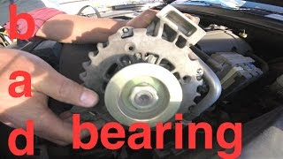 Grinding NOISE hard Vibration ALTERNATOR Replacement Chevy TrailBlazer √ Fix it Angel