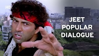 Popular Dialogue on Tik Tok | Sunny Deol | Salman Khan | Karisma Kapoor | JEET | Best Hindi Movie