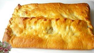 Сочный пирог с рыбой. Пышное мягкое тесто.
