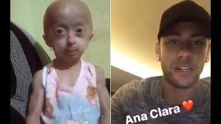 Neymar vai realizar sonho de garotinha com doença rara em conhecê-lo