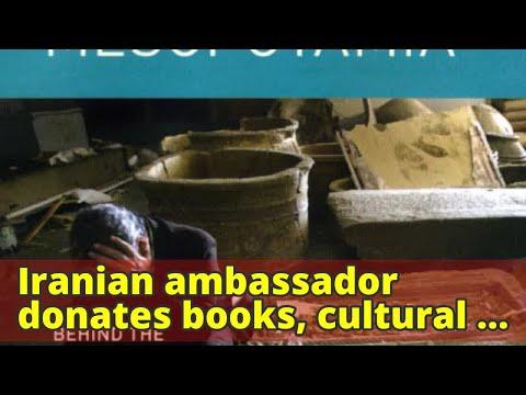 Iranian ambassador donates books, cultural artifacts to SillimanIranian ambassador donates books, cu