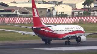 Shanghai Airlines B737-86N B-5545 taking off TSA/RCSS