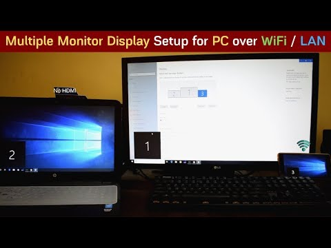 Multi Monitor Setup For PC With Laptop, Android & IOS Devices Over LAN / WiFi