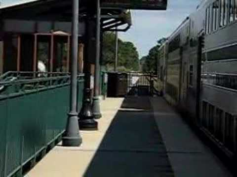 LIRR train stopping at Yaphank