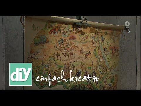 urlaubsfotos und landkarten zum aufh ngen diy einfach kreativ youtube. Black Bedroom Furniture Sets. Home Design Ideas