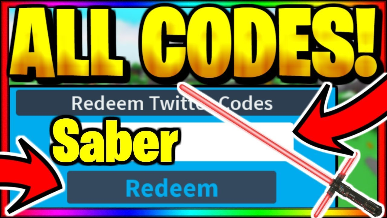 All Op Working Codes Roblox Saber Simulator Youtube