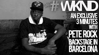 An Exclusive 3 Minutes With Pete Rock Backstage In Barcelona