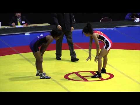 2014 Junior Pan-American Championships: 48 kg Jacqueline Mollocana (ECU) vs. Vicmarie Requena (PUR)