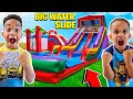 SURPRISING DJ & KYRIE WITH A BIRTHDAY WATERSLIDE BOUNCE HOUSE | THE PRINCE FAMILY
