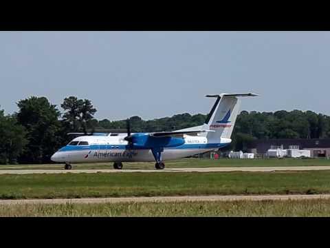 "American Eagle ""Piedmont Retro"" Bombardier Dash 8-Q100 departing ORF - 5-26-17"