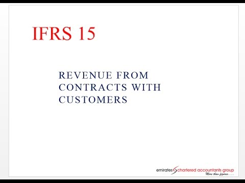 Why IFRS 15?- By Emirates Chartered Accountant Group