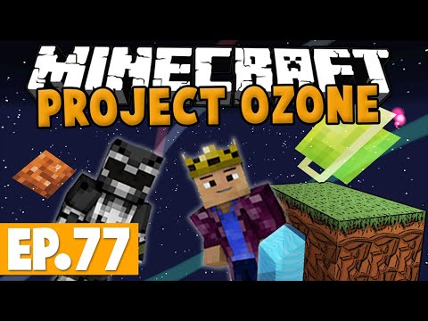 Minecraft Project Ozone - MOON DUNGEON BOSS FIGHT! #77 [Modded HQM Skyblock]