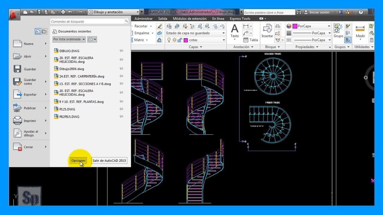 Autocad guardar dibujo de autocad en otra version por for Archivos de cad