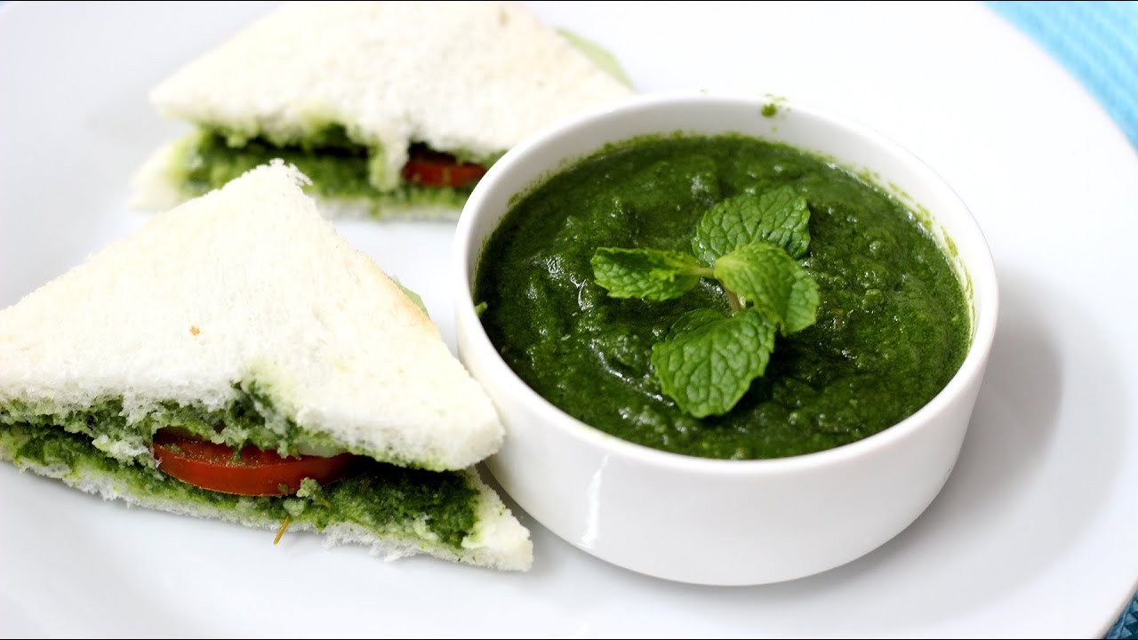 How to make Mint Chutney recipe - Pudina Chutney Recipe ...